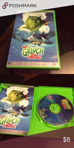 Dr. Seuss How The Grinch Stole Christmas DVD I love this movie so much and Dr Seuss is a masterpiece in movies in great condition and a Christmas must have💜 DR Seuss Dvd Other