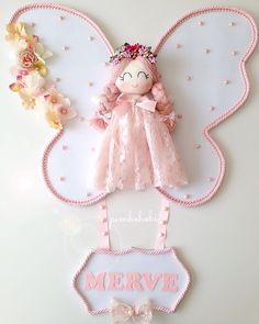 Piel Tutorial and Ideas Felt Crafts, Diy And Crafts, Crafts For Kids, Felt Dolls, Baby Dolls, Diy Y Manualidades, Baby Mobile, Angel Crafts, Decorate Notebook