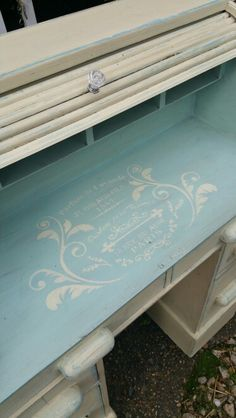 French stencilling with Annie Sloan chalk paint, by Imperfectly Perfect xx