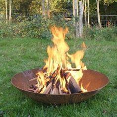 Braciere-in-Acciaio-corten-piatto-bruciatore-a-griglia-per-giardino-patio