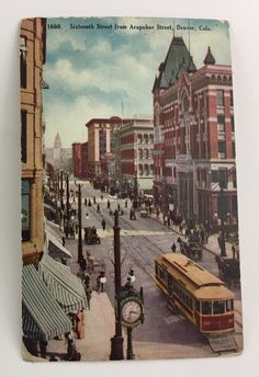 SIXTEENTH STREET FROM ARAPAHOE STREET, DENVER, CO Postcard  | eBay