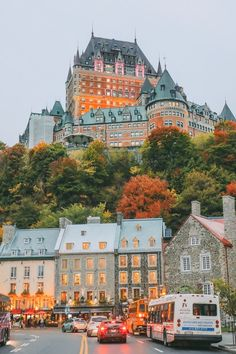 Autumn in Quebec, Canada, is unlike anywhere else! Check out this travel story to see the gorgeous Fairmont Le Chateau Frontenac and more beautiful fall photography in Quebec. Old Quebec, Quebec City, Chateau Frontenac, Le Petit Champlain, Beautiful Places To Travel, Canada Travel, Backpacking Canada, Canada Cruise, Canada Canada