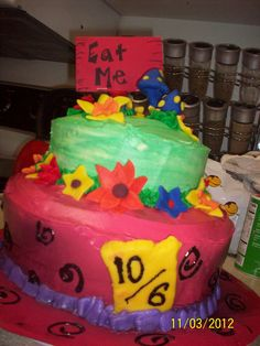 Mad Hatter Cake! Buttercream with fondant decorations.