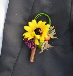 Blue+Silk+Sunflowers+for+Wedding | wedding flower groom corsages corsage artificial flower sunflower ...