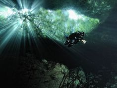Swimming in Cenotes (Mexico) 'An estimated 6000 cenotes (limestone sinkholes) dot the peninsula; some, like the spectacular pair of caverns at Cenote Dzitnup, make for refreshing, fun-filled swimming holes, while others, such as the underground cave system at Dos Ojos, draw divers from far and wide.' http://www.lonelyplanet.com/mexico/travel-tips-and-articles/76195