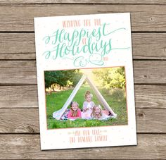 Christmas Card  Happiest of Holidays Custom Photo by deanworks, $15.00