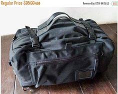 SUMMER SALES Duffle bag handmade canvas leather bag duffel