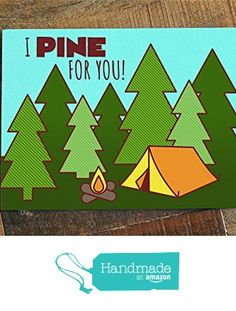 I Pine For You! - Camping & Nature Love Card from TIny Bee Cards http://www.amazon.com/dp/B01AL0EXSI/ref=hnd_sw_r_pi_dp_yS0Lwb0Q13K7B #handmadeatamazon
