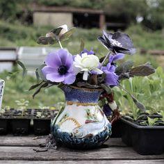 Sterling silver Anemone flowers handcrafted by Danniella Jayne Wilde