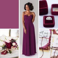 Top Wedding Color Schemes For 2020 – Wedding Shoppe Inc: cassis burgundy purple eggplant Best Wedding Colors, Wedding Color Schemes, Yellow Bridesmaids, Bridesmaid Dresses, Berry Wedding, Blue Wedding, Summer Wedding, Rustic Wedding, Hot Pink