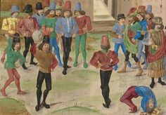 Did you know? Forget suits of #armour: by the 1390s male clothing had become extremely vain, saucy and revealing. Fashionable young #noblemen paraded around in tights and 'courtpieces': very short tunics that showed off the wearer's - er - well, you know. Basically, England briefly turned into a nation full of Labyrinth-era #DavidBowies. They also wore tight #corsets to give themselves a nipped in waist.