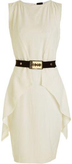 Looks fairly basic... hmmm?  Fendi Sleeveless Belted Dress