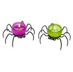 Itzy & Bitzy Tealight Pair - $15/set - Retiring 12/18/13 - www.partylite.biz/kfordcandles - #partylite #candles #homedecor #spiders #halloween #spooky #itsybitsyspider