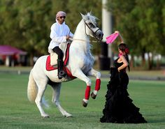 11/7/14 The Pink Polo event, which is now in its fifth year, aims to raise awareness of the cancer that is the UAE's second biggest killer of women after cardiovascular disease. PHOTO: TheNational.ae