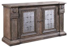 Pulaski Accentrics Home Alexandreah Credenza in Aged Patina #Pulaski #Transitional #Sideboard