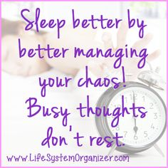 Better time management starts with a good night's sleep.