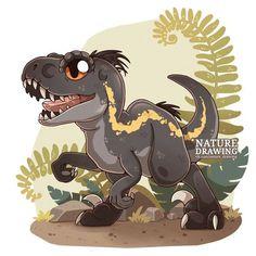 I know this isn't original but it is the indoraptor baby one too Dinosaur Drawing, Dinosaur Art, Cute Dinosaur, Cute Animal Drawings, Cartoon Drawings, Cute Drawings, Jurassic World Fallen Kingdom, Jurassic Park World, Chibi