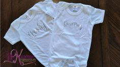 Personalized Chrome Mirror Name Onesies  Baby by UnKaumanDesigns
