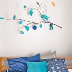 "Perk up a winter afternoon with this colorful DIY...love this, just ""rescued"" some really cool branches from my trees that were trimmed"