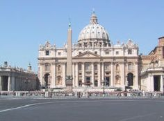 At Vatican City, visitors can visit St Peter's Cathedral and enjoy its fountains, statues and the beautiful church dome.