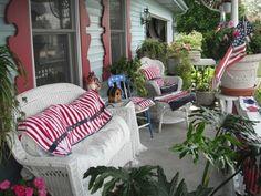 the patriotic porch...