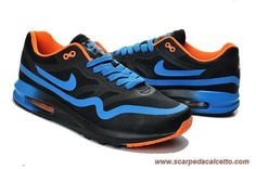 new concept 8a7e5 9644e 652989-301 Nero Blu Arancione Nike Air Max 87 Uomo scarpe da calcio online  Air