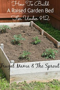 "How to build a raised bed garden for under $12! When I first started researching raised garden beds, I was in shock at the pricing of those ""raised garden bed kits"" you can buy, I thought there had to be a cheaper way. I found it!"