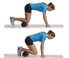 Foam Roller: Shins, aka Tibialis Anterior:  Start on your hands and knees with the roller placed on your shins just under your knees.  Keep your hands still and roll your knees toward your hands, bringing roller almost to ankles.  Roll for 30 to 60 seconds.  Change the angle by twisting to right so the right shin has more contact with roller for a few repetitions then twist to the left. Bonus: This works your abs and core a bit too.