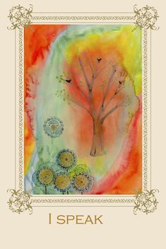 Tree Affirmation Card No 5 #chakra #meditation #vishuddha #greetingcard