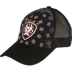 2cc8b24c359 Women s Ariat Black Paisley Baseball Cap Cowboy Hats