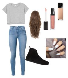 """""""Simple-by Brooke"""" by wildflower08 ❤ liked on Polyvore featuring Maybelline, 7 For All Mankind, Monki and Ann Demeulemeester"""