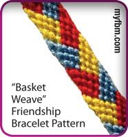 Friendship Bracelet Pattern Basket Weave Design by My Friendship Bracelet Maker myfbm.com