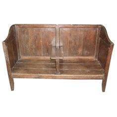 Oak settle bench