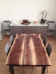 Black Walnut Live Edge Dining Table   Modern   Dining Tables   Toronto    Urban Tree