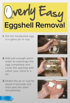Here's how you hardboil and peel without the ordeal.  #SaveMoney #DIYHome #HouseholdTips #KitchenTip #EggshellPeelingTrick