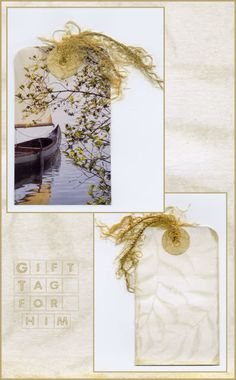 Lavendula Loveliness: Gift tag for him!  By Sandra Foster