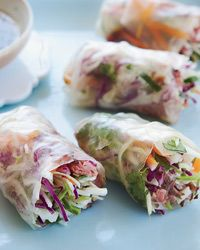 Roast Beef Summer Rolls | Provided By: Grace Parisi | Vietnamese summer rolls are often filled with or shrimp, but Grace Parisi makes hers with roast beef from the deli. | From: foodandwine.com