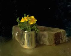 Paintings, drawings and photography from other artists that are inspiring. Juliette Aristides, Primroses, String Of Pearls, Flower Art, Still Life, Painters, Dutch, Artwork, Artists