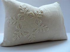 SNOWFLAKE Applique pillow!