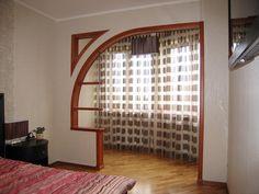декоративный арочный вход на лоджию
