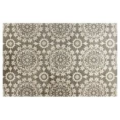 Check out this item at One Kings Lane! Starburst Rug, Ivory/Gray