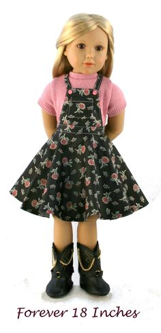Circle Skirt Overalls for Kidz -n Cats dolls!  Coming soon to PixieFaire.com...