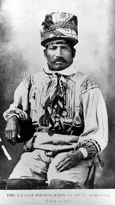The great Billy Bowlegs III of Brighton Reservation near Lake Okeechobee Florida. He was half native and half black. Since he was born in 1862 his mother was possibly a run-away slave Native American Print, Native American Photos, Native American Tribes, Native American History, Native Americans, Vintage Florida, Old Florida, Seminole Indians, Aboriginal People