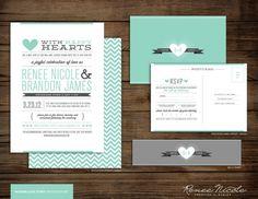 This week's Wedding Wednesday features Jessica's wedding invitation inspiration!