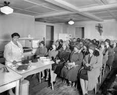 "Washington, D.C., circa 1926. ""Cooking demonstration, Washington Gas Light Co."" Where no cake is ever half-baked. Or else."