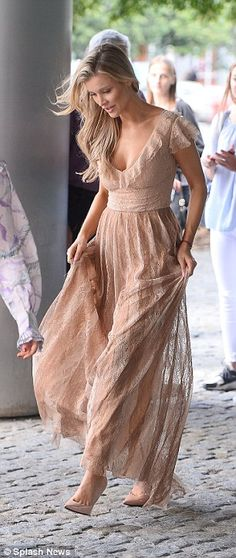 Joanna Krupa exudes elegance in nude lace gown in Poland Joanna Krupa, Classic Beauty, Bohemian, Nude, Bridesmaid, Street Style, Style Inspiration, Gowns, Elegant