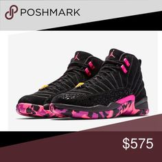 Size 8 Men Retro Jordan 12s Doernbecher pink black Brand new Jordan s never  been worn comes with 088bea9a6