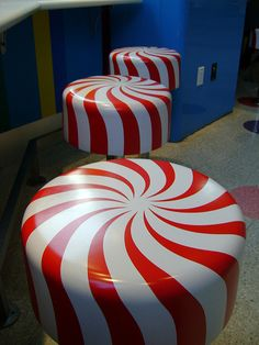 Candy Bar Stools.. I want to DIY these.. Or see my own cushions for the stools I already have :)