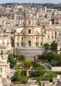 Chiesa di San Giorgio a Modica, Italy. Modica is a historic town in Sicily famous for its Baroque architecture and chocolate.