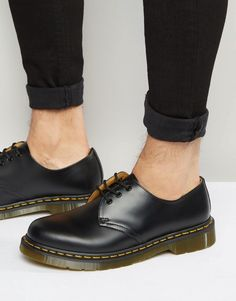 5932a9b1d61 Dr Martens Original 3-Eye Shoes 11838002 - Black Doc Martens Mens Shoes, Dr